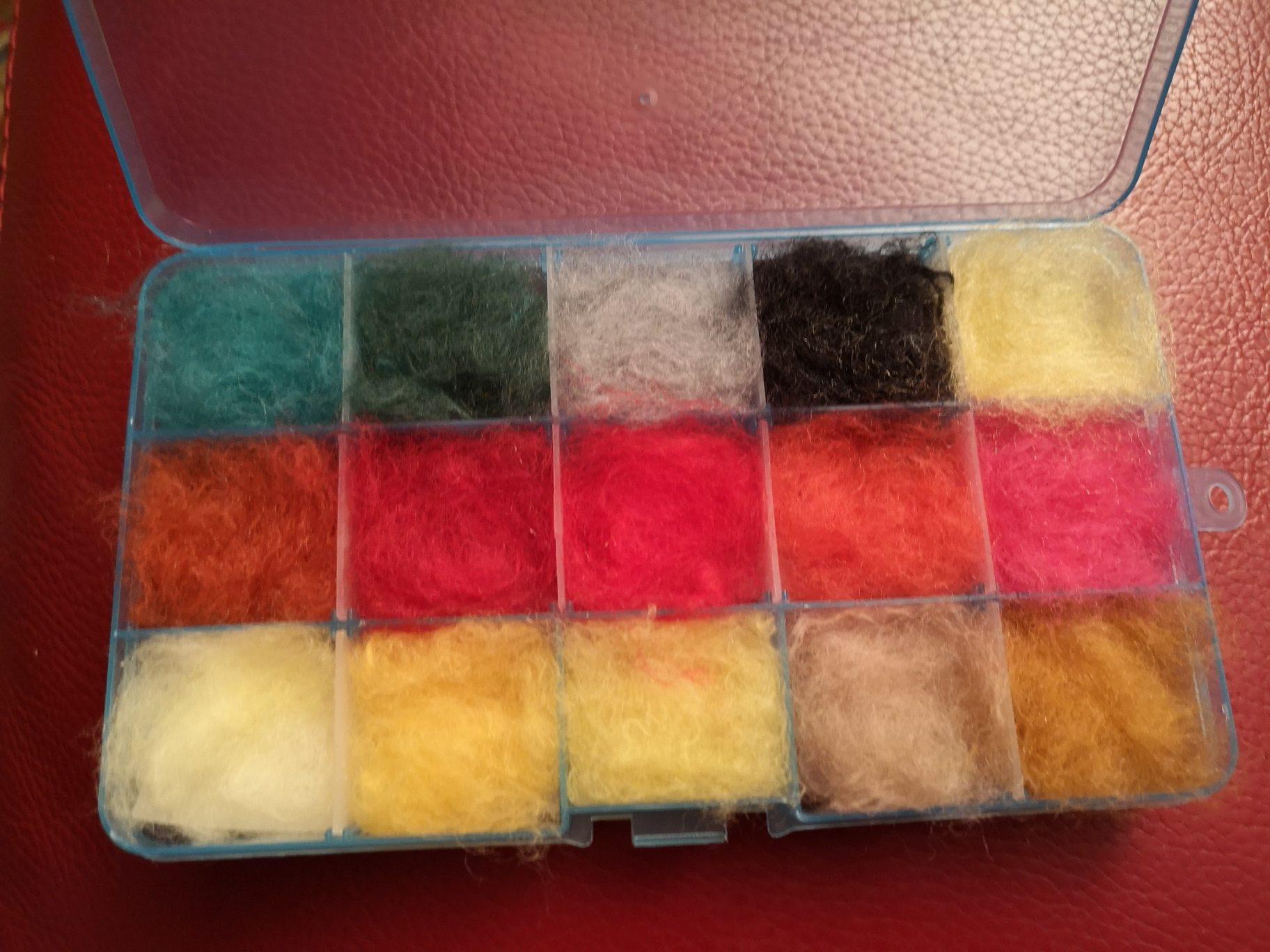 Dubbing fabriqué à partir des laines PHILDAR