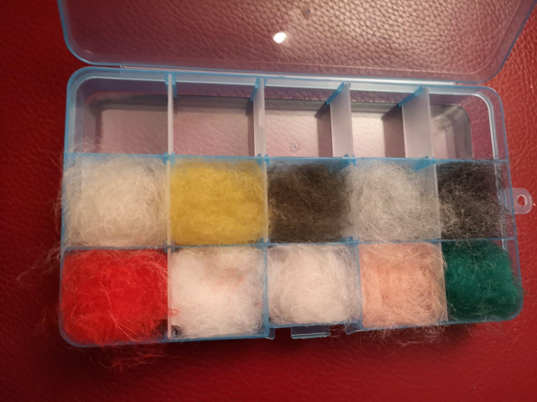 Dubbing fabriqué à partir des laines RICO